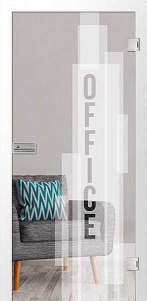 Bauelement Office Micromattierung Glastür mit M...