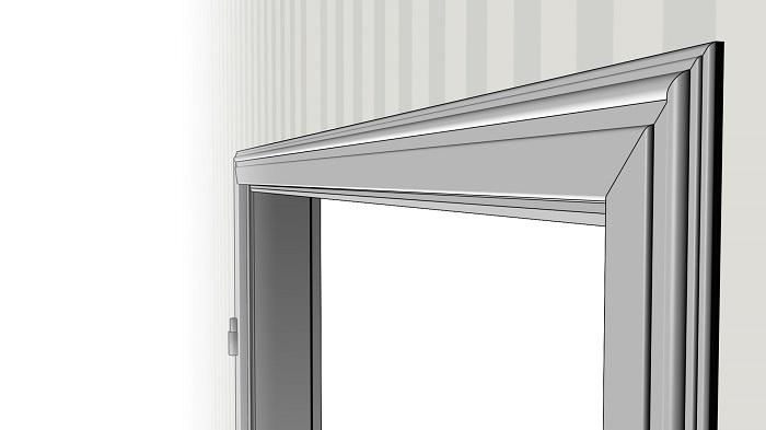 elegante profilierte massivholzzarge modell profil b deinet. Black Bedroom Furniture Sets. Home Design Ideas