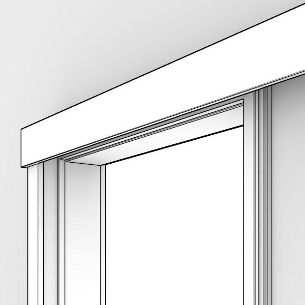 massivholz schiebet r system vor der wand laufend mit profilierter zarge deinet. Black Bedroom Furniture Sets. Home Design Ideas