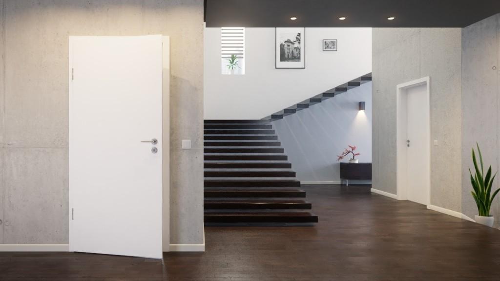 innent r set arctic wei 9016 westalack mit zarge und dr cker deinet. Black Bedroom Furniture Sets. Home Design Ideas