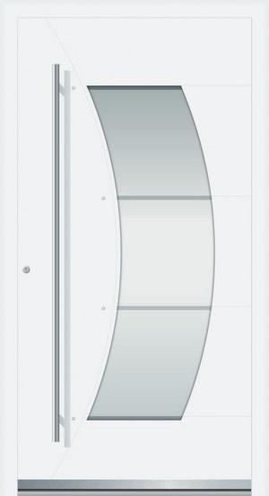 rosa aluminium haust r mit glasausschnitt interio deinet. Black Bedroom Furniture Sets. Home Design Ideas