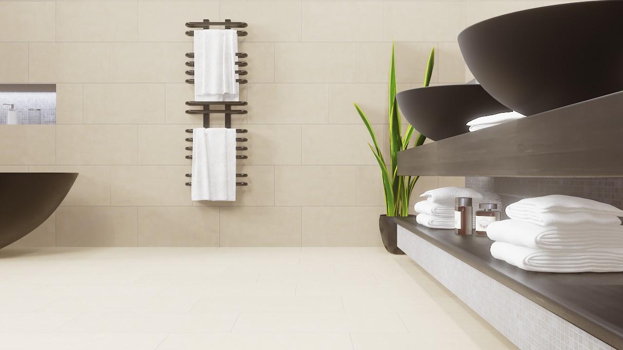 Boden- und Wandfliesen Beige Matt Strukturiert City 30 x 60 cm  Feinsteinzeug - Interio