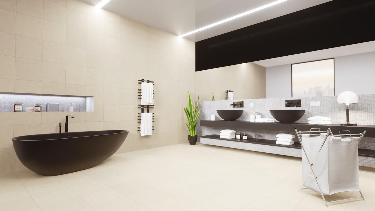 Boden- und Wandfliesen Beige Matt Strukturiert City 33 x 33 cm  Feinsteinzeug - Interio