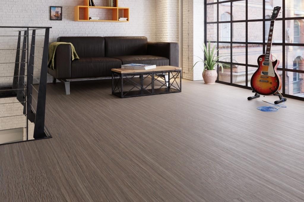 streifer dunkelbraun gepr gt linoleum boden premium inkl trittschalld mmung puro lid 300 s 7307. Black Bedroom Furniture Sets. Home Design Ideas