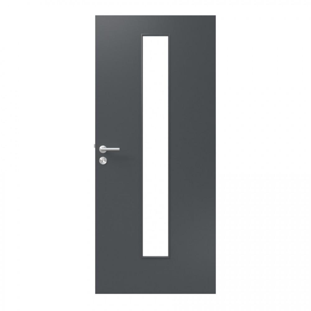 RAL 7016 Anthrazitgrau Innentür mit Glas Vido 2 (modulWERK 3.0) - vitaDoor
