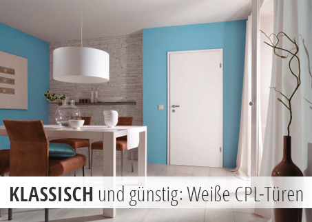 Innentüren, Zimmertüren, weiß, glatt, CPL, robust