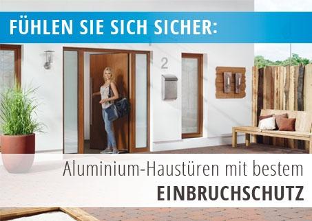 Einbruchschutz bei Aluminium Haustüren