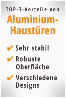 Vorteile von Aluminium Haustüren