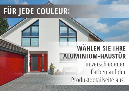 Viele Farben für Aluminium Haustüren
