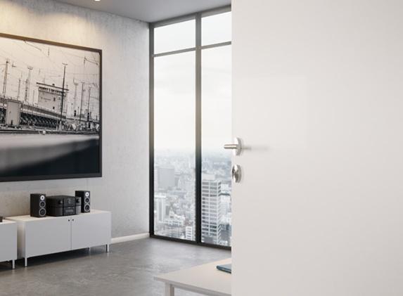 Glatte, weiße CPL-Tür RAL 9010