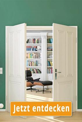 Klassische weiße Doppelflügeltür