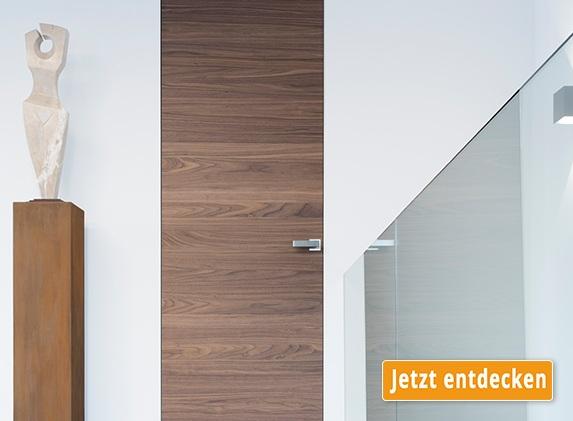 Wandbündige, stumpf einschlagende Türen von modulwerk
