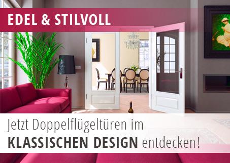 Doppelflügeltüren mit klassischem Design
