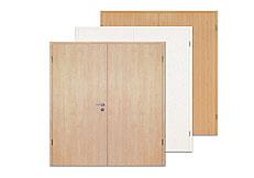 CPL, Laminat, Kunststoff, Doppelflügel-Türen
