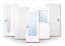 Innentür, Zimmertür, weiß, glatt, CPL, Kunststoff, Laminat