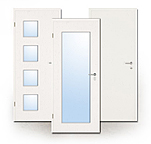 Innentür, Zimmertür, HPL, weiß, weiss, stark, Objektbau