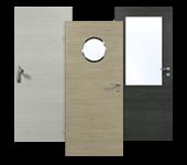 Innentür, Zimmertür, HPL, Queroptik, Holz-Optik, robust, Objektbau
