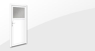 Nebeneingangstür NET 1019 mit Glasausschnitt von Interio