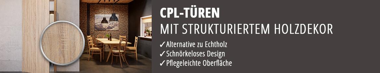 CPL-Türen, CPL Holzoptik, Innentüren CPL-beschichtet, Zimmertüren, robust und langlebig, preiswert