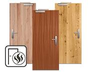 Echtholzfurnierte Rauchschutztüren