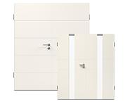Modern, weiße Doppelflügeltüren