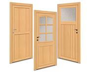 Holz-Nebeneingangstüren
