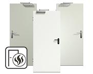 Weiße Rauchschutztüren