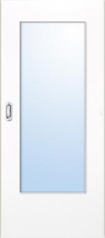 Lebo, Schiebetür, Weißlack, mit Glas