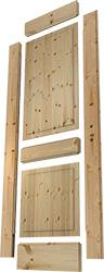 Massivholztür,Füllungstür Einzelteile, Fries, Aufrechte