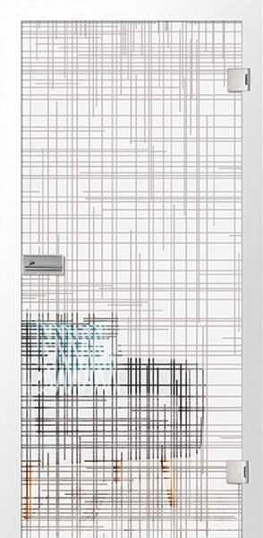 Micromattprint Glastür Cuts (Motiv klar)