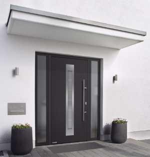 Haustür mit Wärmeschutzverglasung