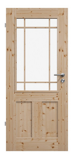 Landhaustür, Elegante Massivholztür, Holztüren, Lärche, gewachst, Schweifbogen