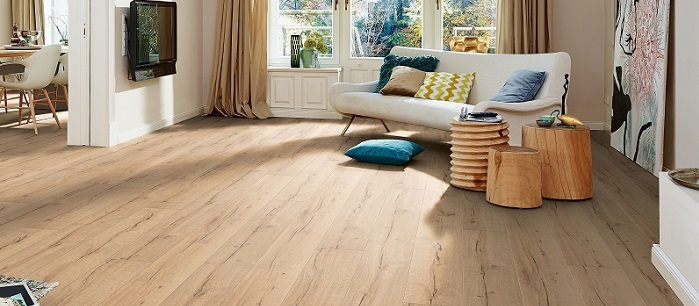Designboden in natürlicher Holzoptik