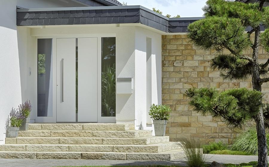 g nstige aluminium holz haust ren online kaufen. Black Bedroom Furniture Sets. Home Design Ideas