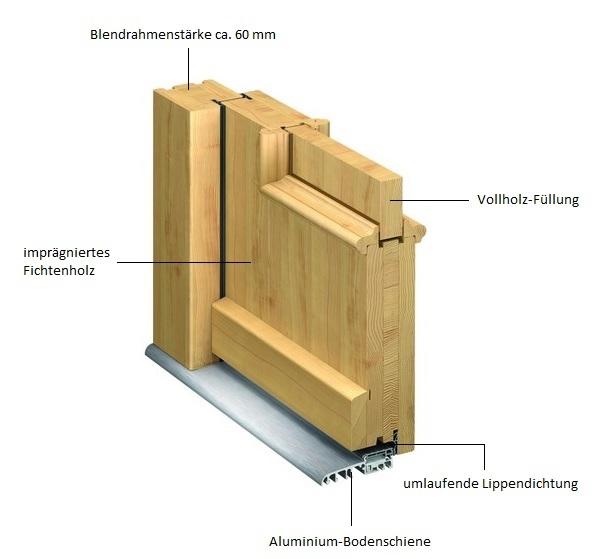 Favorit Haustüren aus Holz kaufen ZE93