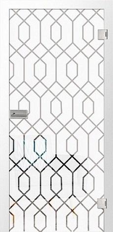Graphic Mattierung Glastür mit Motiv klar - Erkelenz