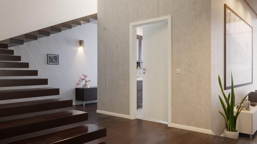 glatte weiße Zimmertür