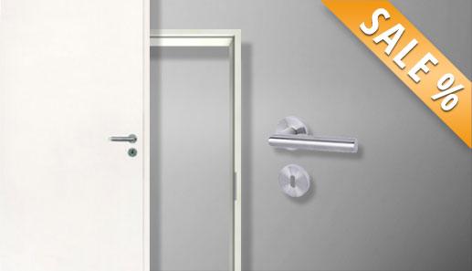 Innentürset, Sparset, Tür inkl. Zarge und Drücker, Komplettset, Komplettelemente, weiße Innentüren