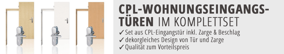 CPL-Wohnungseingangstüren, Komplettset, Eingangstür, mit Zarge, günstig