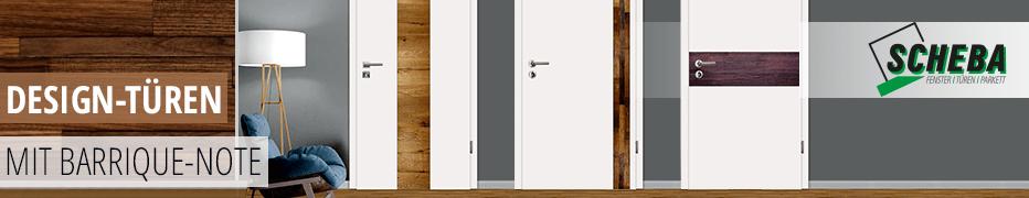 Innentüren mit Wein-Design der Marke Scheba, edle Altholz-Einlage, Designtüren veredelt mit mit dem Holz alter Barrique-Weinfässer