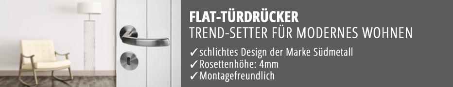 eckige Türdrücker-Garnituren, Türklinken, flächenbündig, funktional, modern