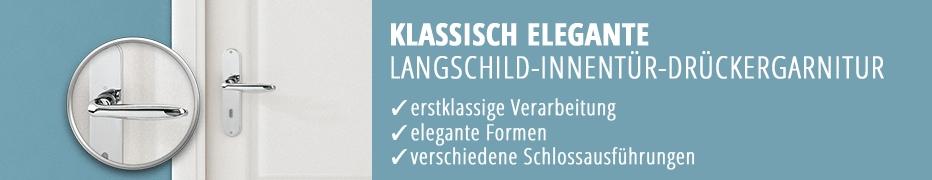 klassische Langschild-Türdrücker, Türklinke, Langschild-Garnitur, preisgünstig