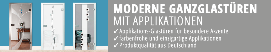Ganzglas-Innentüren, mit Applikation, Zimmertüren, günstig