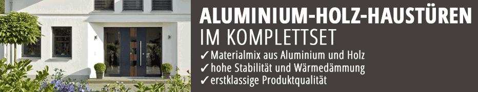 aluminium holz haust ren im komplettset kaufen. Black Bedroom Furniture Sets. Home Design Ideas
