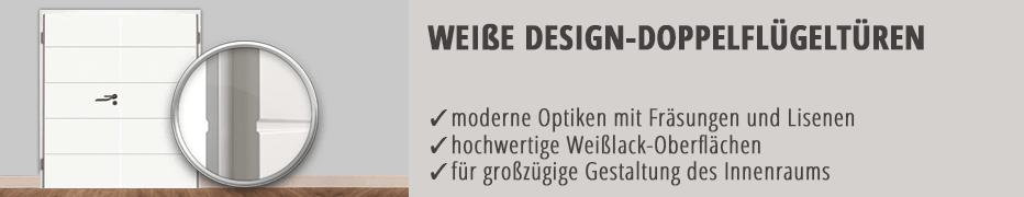 Doppelflügeltür, Design, modern, weiß, Weißlack, günstig