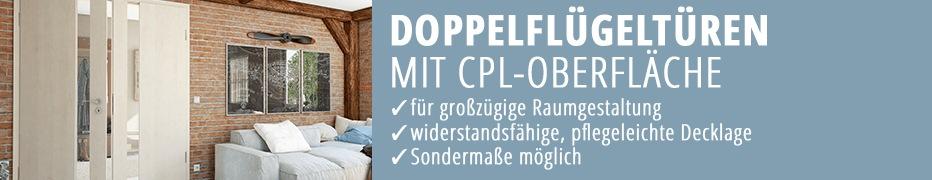 Doppelflügeltür, CPL, robust, günstig