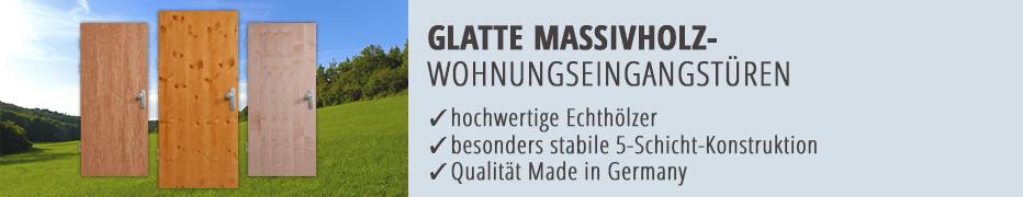 Wohnungseingangstüren, Eingangstür, Massivholz, Echtholz, glatt, Doppelfalz, hochwertig, Made in Germany