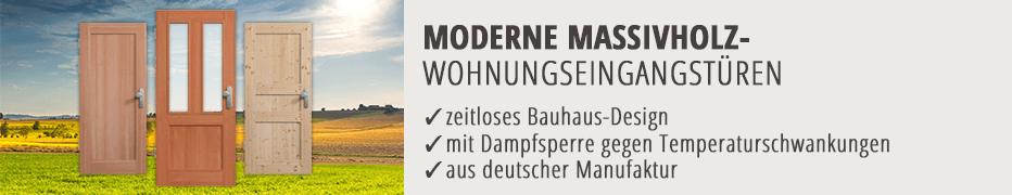 Wohnungseingangstüren, Eingangstür, Massivholz, Echtholz, modern, Bauhaus, Doppelfalz, hochwertig, Made in Germany