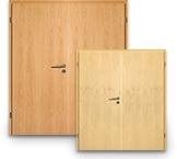 Echtholzfurnierte Doppelflügeltüren