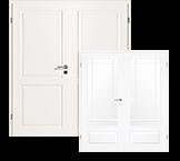 Klassisch, weiße Doppelflügeltüren